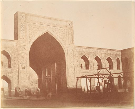 [Court of the mosque Gawhar Shad, MESHED, 1418 (?)]. Date: 1840s–60s. Accession number: 197768334.