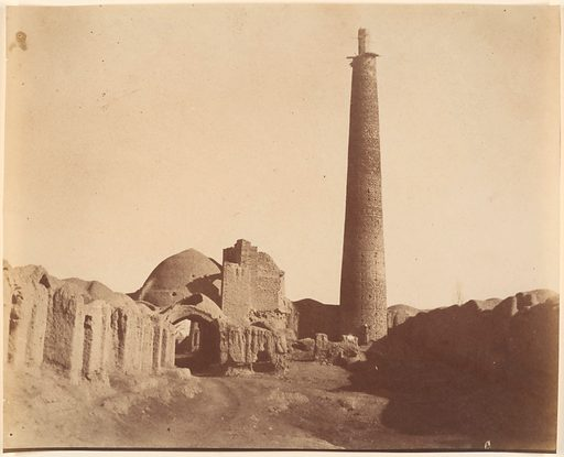 [Minaret of the Chief Mosque at Damghan, 1026–1029]. Date: 1840s–60s. Accession number: 197768355.