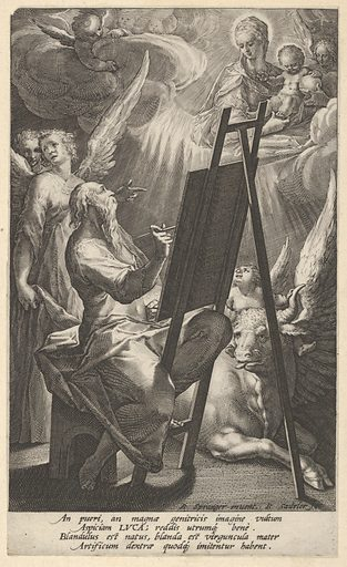 Saint Luke Painting the Virgin. Date: 16th century. Accession number: 5360113(206).