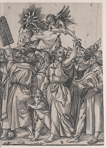 Section B: Isaac, Noah and other figures, from The Triumph of Christ. Date: 1836. Accession number: 22733–140.