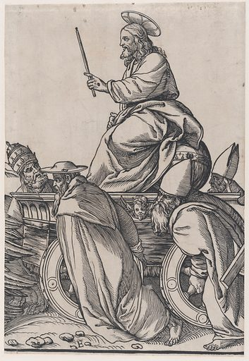 Section E: Christ riding on a triumphal cart, from The Triumph of Christ. Date: 1836. Accession number: 22733–143.