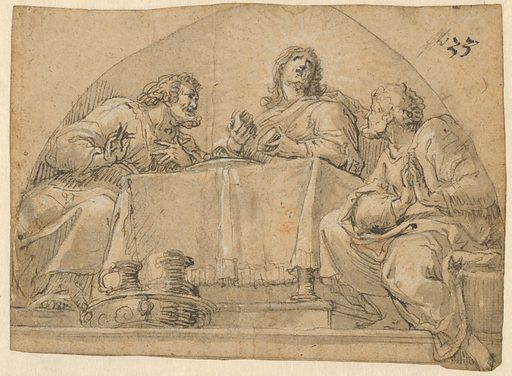 Christ at Emmaus. Date: ca 1690. Accession number: 2014788.