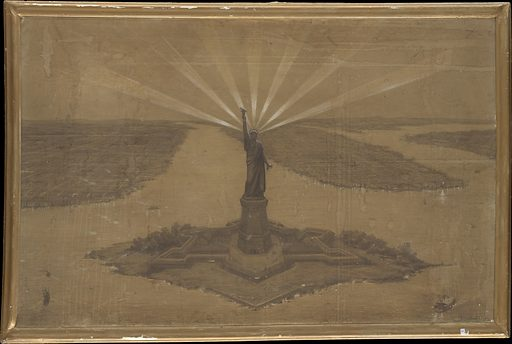 """Presentation Drawing of """"The Statue of Liberty Illuminating the World"""". Date: 1875. Accession number: 2014486."""