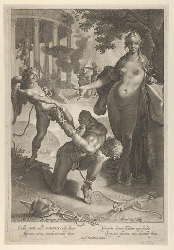 Venus and Cupid Bind Mercury. Date: 1597–1637. Accession number: 1733210.
