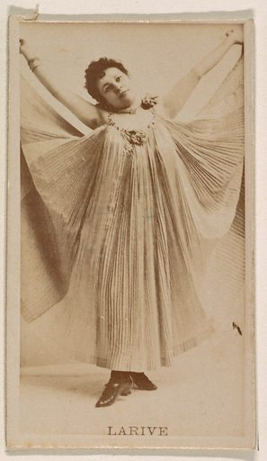 Larive, from the Actresses series (N245) issued by Kinney Brothers to promote Sweet Caporal Cigarettes. Date: 1890. Accession number: 633502202451123.