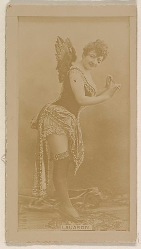Miss Lauason, from the Actresses series (N245) issued by Kinney Brothers to promote Sweet Caporal Cigarettes. Date: 1890. Accession number: 633502202451129.