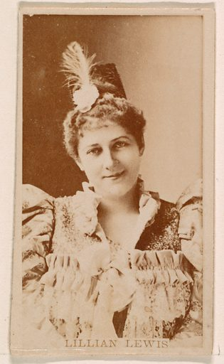 Lillian Lewis, from the Actresses series (N245) issued by Kinney Brothers to promote Sweet Caporal Cigarettes. Date: 1890. Accession number: 633502202451161.
