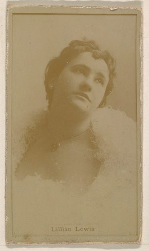 Lillian Lewis, from the Actresses series (N245) issued by Kinney Brothers to promote Sweet Caporal Cigarettes. Date: 1890. Accession number: 633502202451163.