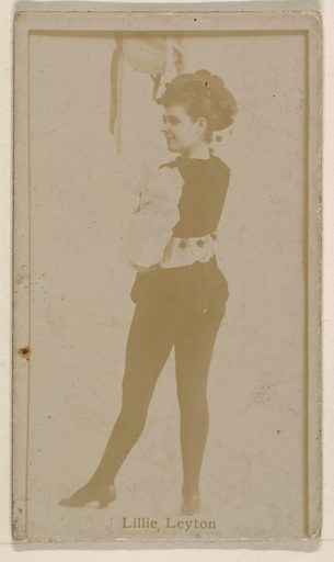 Lillie Leyton, from the Actresses series (N245) issued by Kinney Brothers to promote Sweet Caporal Cigarettes. Date: 1890. Accession number: 633502202451168.