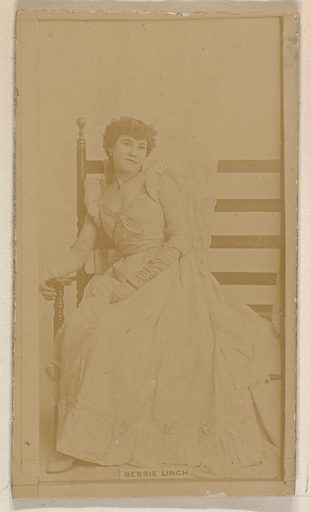 Bessie Linch, from the Actresses series (N245) issued by Kinney Brothers to promote Sweet Caporal Cigarettes. Date: 1890. Accession number: 633502202451174.