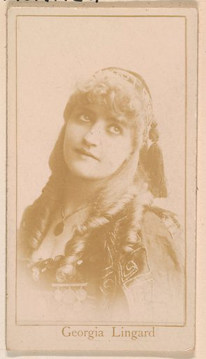 Georgia Lingard, from the Actresses series (N245) issued by Kinney Brothers to promote Sweet Caporal Cigarettes. Date: 1890. Accession number: 633502202451176.