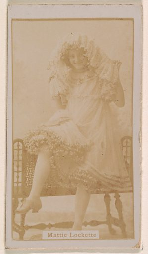 Mattie Lockette, from the Actresses series (N245) issued by Kinney Brothers to promote Sweet Caporal Cigarettes. Date: 1890. Accession number: 633502202451190.