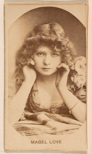 Miss Mabel Love, from the Actresses series (N245) issued by Kinney Brothers to promote Sweet Caporal Cigarettes. Date: 1890. Accession number: 633502202451200.