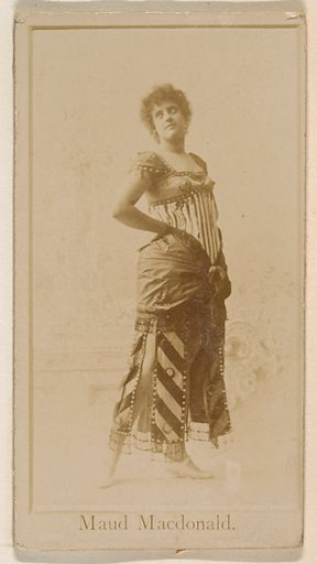 Maud Macdonald, from the Actresses series (N245) issued by Kinney Brothers to promote Sweet Caporal Cigarettes. Date: 1890. Accession number: 633502202451212.