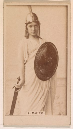 Julia Marlow, from the Actresses series (N245) issued by Kinney Brothers to promote Sweet Caporal Cigarettes. Date: 1890. Accession number: 633502202451233.