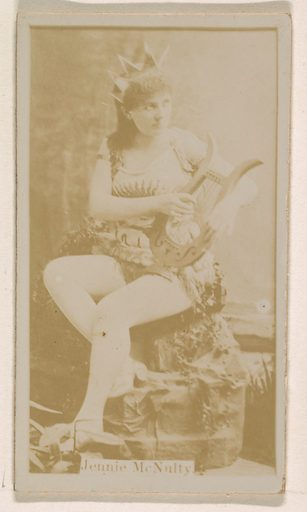 Jennie McNulty, from the Actresses series (N245) issued by Kinney Brothers to promote Sweet Caporal Cigarettes. Date: 1890. Accession number: 633502202451283.