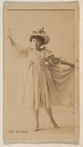Ada Melrose, from the Actresses series (N245) issued by Kinney Brothers to promote Sweet Caporal Cigarettes. Date: 1890. Accession number: 633502202451290.