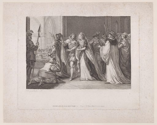 Mary, Queen of Scots going to the place of execution. Date: April 20, 1790. Published in London, England. Accession number: 2463337.