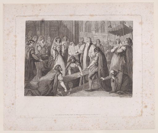 The Internment of Mary, Queen of Scots. Date: May 1, 1791. Published in London, England. Accession number: 2463338.