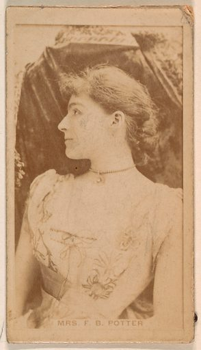 Mrs James Brown Potter, from the Actresses series (N245) issued by Kinney Brothers to promote Sweet Caporal Cigarettes. Date: 1890. Accession number: 633502202451458.
