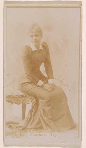 Charlotte Ray, from the Actresses series (N245) issued by Kinney Brothers to promote Sweet Caporal Cigarettes. Date: 1890. Accession number: 633502202451486.