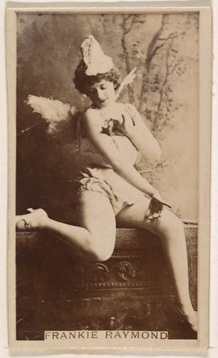 Frankie Raymond, from the Actresses series (N245) issued by Kinney Brothers to promote Sweet Caporal Cigarettes. Date: 1890. Accession number: 633502202451495.
