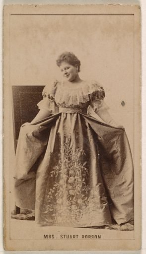 Mrs Stuart Robson, from the Actresses series (N245) issued by Kinney Brothers to promote Sweet Caporal Cigarettes. Date: 1890. Accession number: 633502202451553.