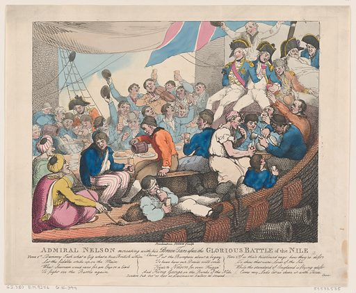 Admiral Nelson Recreating with his Brave Tars after the Glorious Battle of the Nile