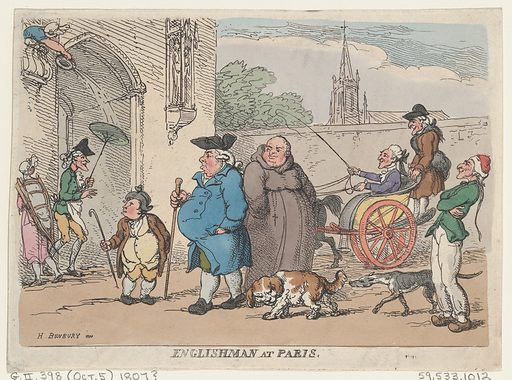 Englishman at Paris. Date: 1807? Accession number: 595331012.
