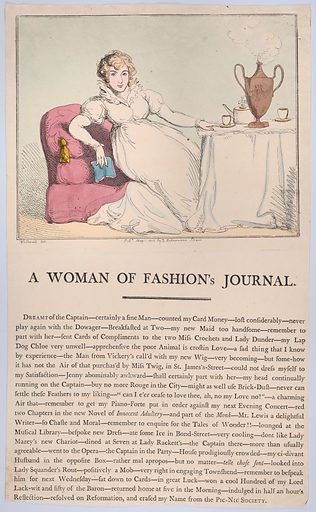A Woman of Fashion's Journal (May 1, 1802). Accession number: 59.533.1944.