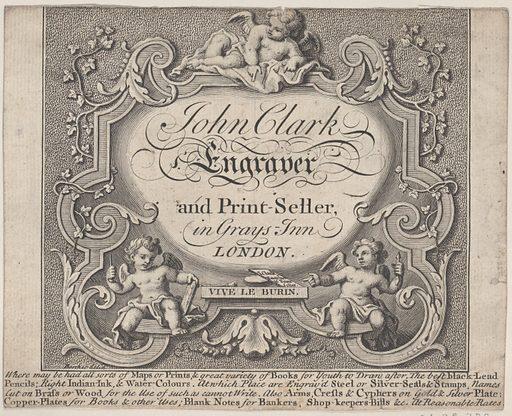 Trade Card for John Clark, Engraver & Printseller
