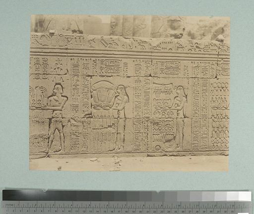 Kom ombos: bas relief. Date: 1860–1869. Collection: Collection of photographs of Egypt and Nubia. Image ID: 81477.