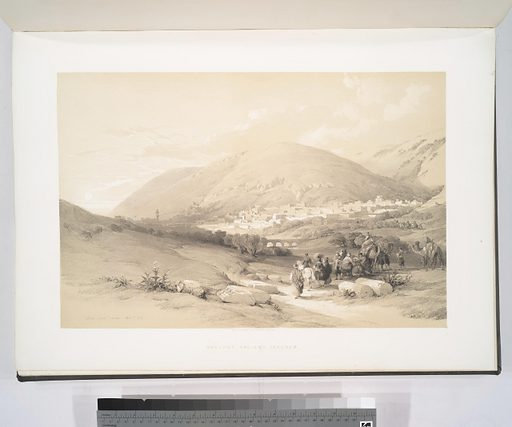 Nablous, ancient Shechem. Date: 1842–1849. Origin: London. Collection: The Holy Land, Syria, Idumea, Arabia, Egypt and Nubia: From drawings made on the spot. Image ID: 83008.