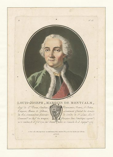 Louis Joseph, Marquis de Montcalm, Seig. de St Veran…. Date: 1790. Collection: Emmet Collection of Manuscripts Etc. Relating to American History, The signers to the Declaration of Independence, New York. Image ID: 1253377.