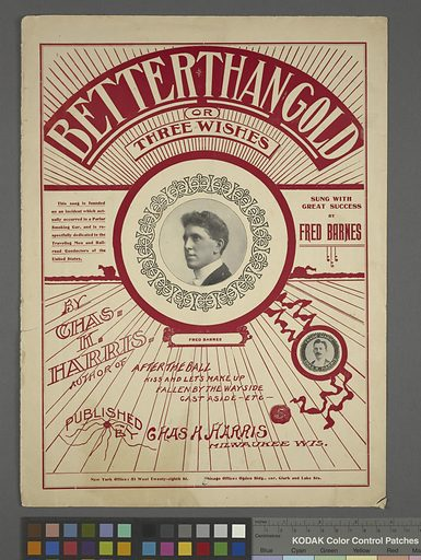 Better than gold, or, Three wishes. Date: 1895. Origin: Milwaukee, Wis. Collection: American popular songs, Sheet music, 1895. Image ID: 1255247.