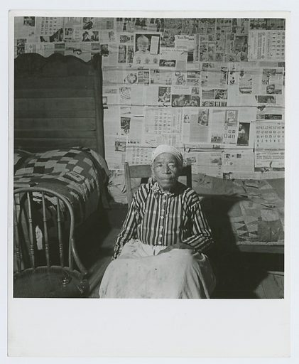 Mulatto ex-slave in her house near Greensboro, Alabama, May 1941. Date: 1941–05. Collection: Farm Security Administration Collection, Arkansas, Jack Delano. Image ID: 1260006.
