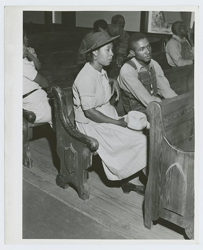 At a meeting of Negro FSA borrowers in a church near Woodville, Greene County, Georgia, May 1941. Date: 1941–05. Collection: Farm Security Administration Collection, Georgia, Jack Delano. Image ID: 1260072.