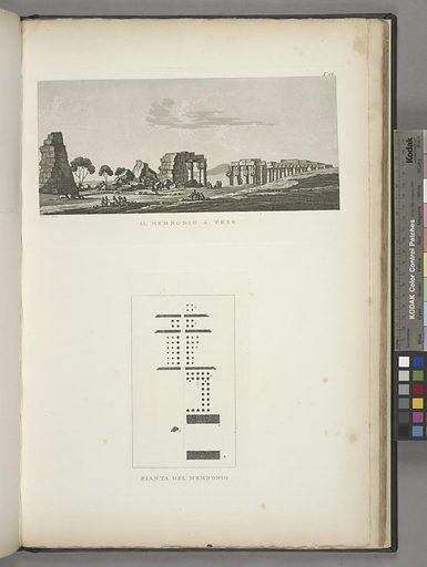 Il Memnonio a Tebe; Pianta del Memnonio. Date: 1835–1837. Origin: Firenze. Collection: Atlante del basso ed alto Egitto. Image ID: 1549442.