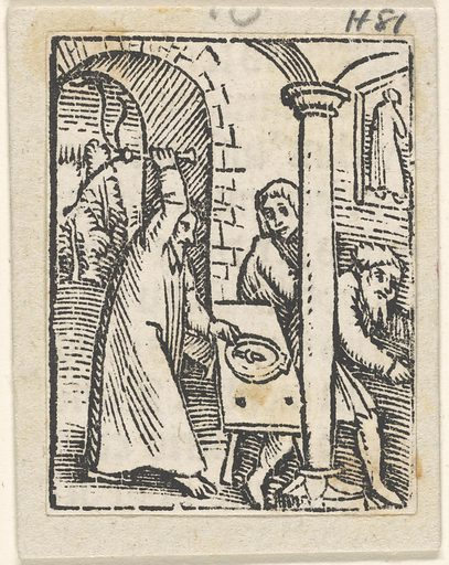 Christ Driving the Money-Lenders from the Temple. Date: ca 1509. Collection: German old master prints. Image ID: 57161241.