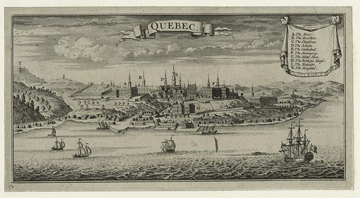 Quebec. Date: 1733. Origin: [London]. Collection: Emmet Collection of Manuscripts Etc. Relating to American History, The Continental Congress of 1774. Image ID: 419939.