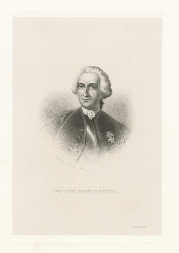 Louis Joseph, marquis de Montcalm. Date: 1868. Collection: Emmet Collection of Manuscripts Etc. Relating to American History, The signers to the Declaration of Independence, Rhode Island. Image ID: 478696.