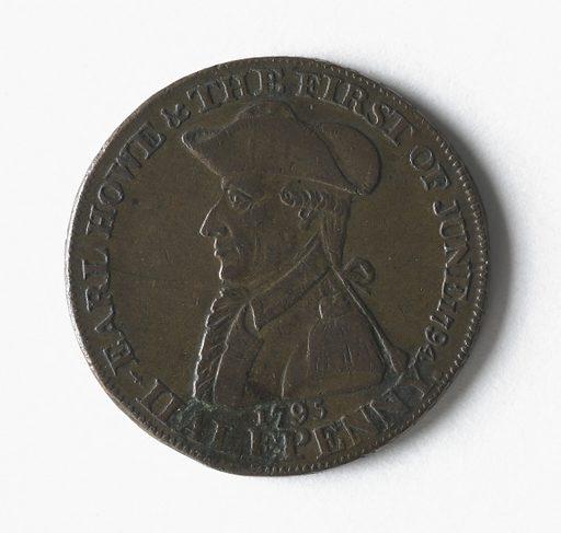 Victoire de l'amiral Howe à la bataille d'Ouessant, 1er juin 1794. Date de création: 1795. Numéro d'object: CARNJ02373.