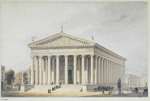 La Madeleine; projet de 1831. Numéro d'object: CARD11915.