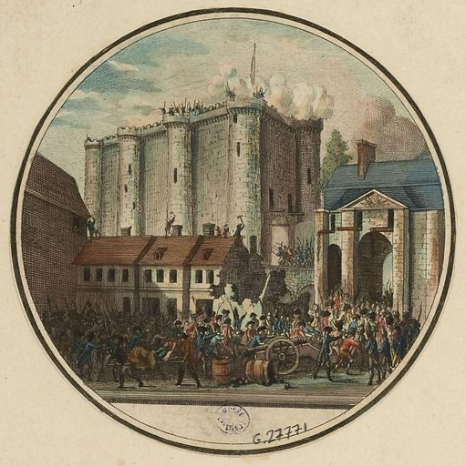 French Revolution. Galerie Historique (G H.) Storming of the Bastille, current 4th, 11th and 12th arrondissements, 14 ….