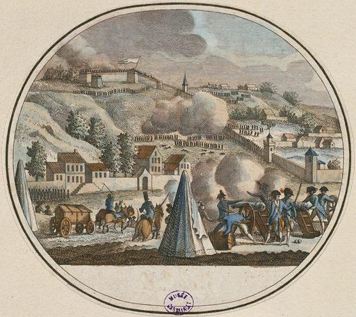 Dito (9. Dito). Prise de la ville de Lyon. Le nom du Proconsul Collot-d'Herbois, envoyé pour réduire cette ville révolté …. Date de création: 1788–1798. Numéro d'object: CARG028860.
