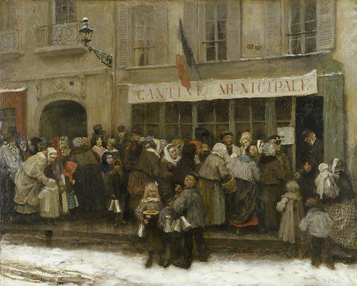 Cantine municipale pendant le siège de Paris (1870–1871). Date de création: vers 1870. Numéro d'object: CARP0259.