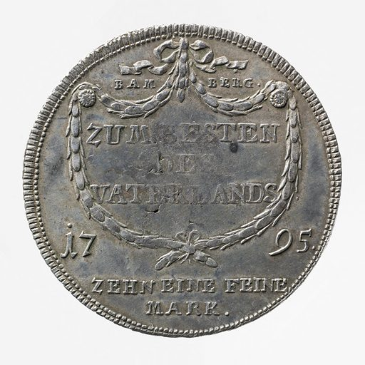 Ecu de convention de Bamberg et Wurzbourg, 1795. Date de création: 1795. Numéro d'object: CARNM01768.