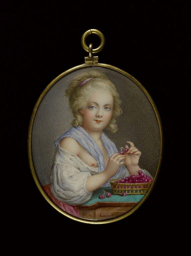 Girl with Basket of Cherries