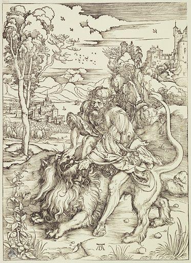 Samson fighting the lion