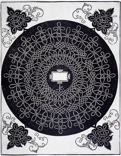 Noeuds avec un écusson oblong. Date de création: 1506–1507. Numéro d'object: PP-GDUT04215.